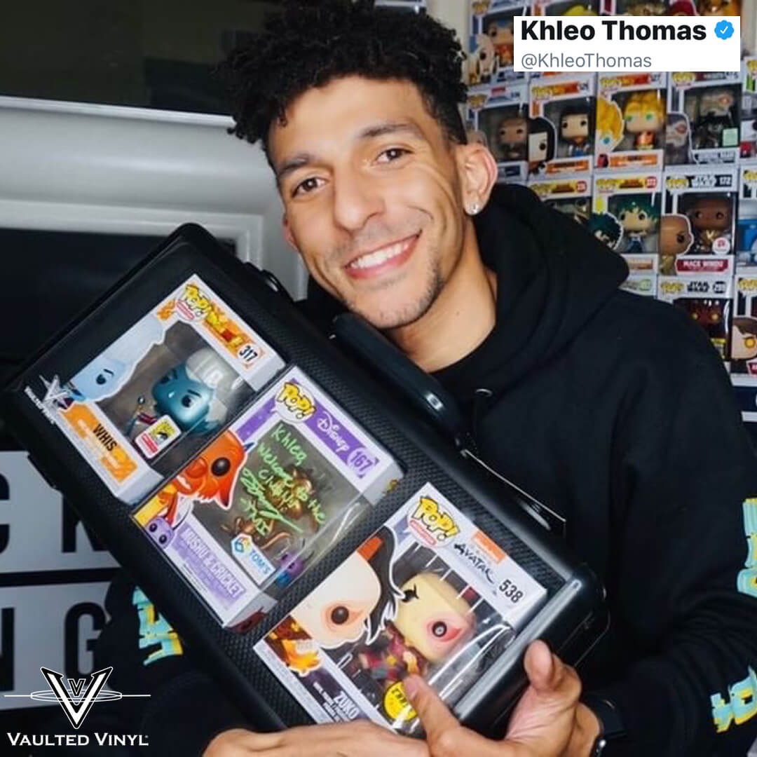 Khleo Thomas from Holes with a Vaulted Vinyl Display Pop Vault