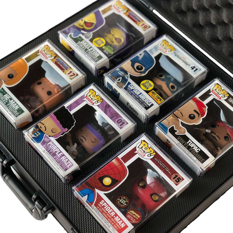 The Original Pop Vault protective case for Funko Pops showing grails by Vaulted Vinyl