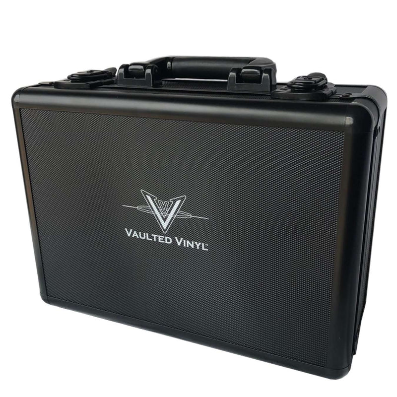 The Pop Vault Mini case for Funko Pops close with Vaulted Vinyl logo