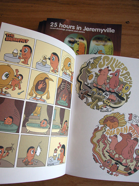 25hrs in Jeremyville #3 zine & 'Sketches from New York' Postcard book