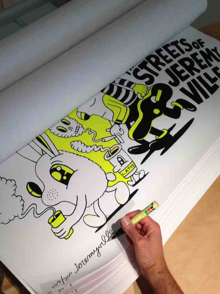 Streets of Jeremyville - Giant screenprint