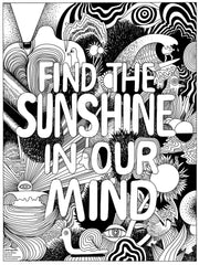 A Trip to Jeremyville FREE coloring in poster _ FIND THE SUNSHINE IN OUR MIND