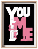 You and Me -  18 x 24 inch signed screenprint