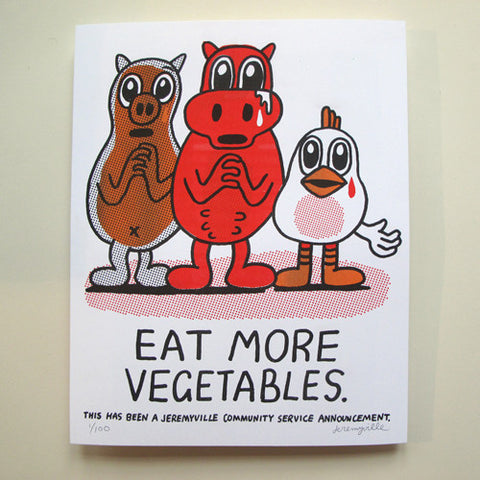 Eat More Vegetables - 11 x 14 inches