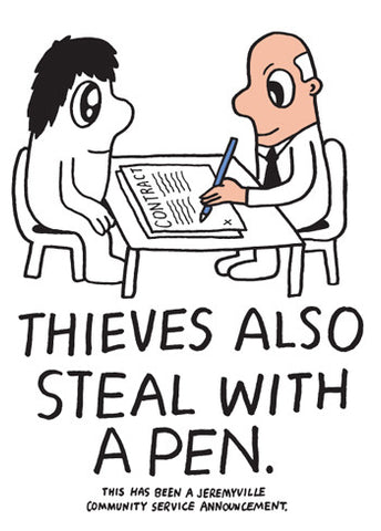 Thieves Also Steal With A Pen