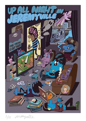 Up All Night in Jeremyville - 17 x 24 inches