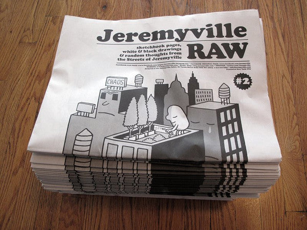 RAW #2 newspaper