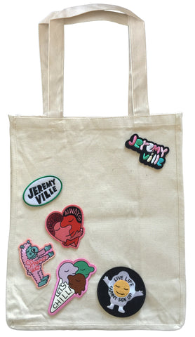 Tote With Patches - Style 1