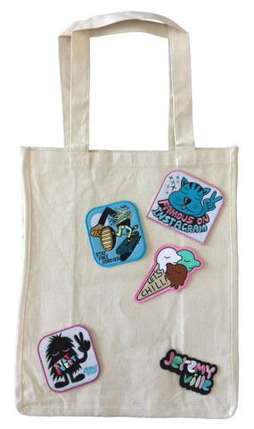 Tote With Patches - Style 3