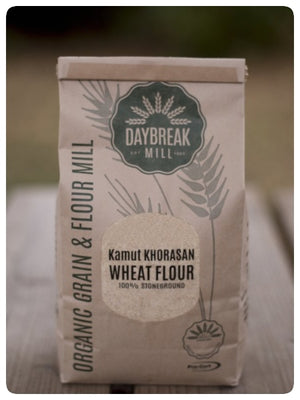 Organic KAMUT Khorasan Wheat Flour stoneground DaybreakMill
