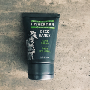 Nova Scotia Fisherman Deck Hand Cream.This fast absorbing cream will protect your hands from the harshest conditions. relieving cracks, sores, and calluses from dry skin.