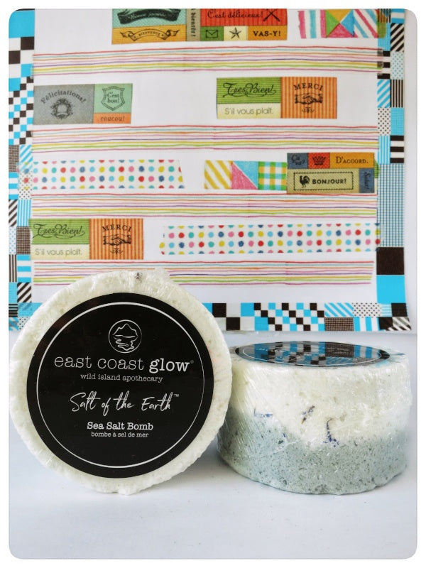 East Coast Glow. Glacial Blue Sea Salt Bomb. Made in Canada.  Gift Choice.