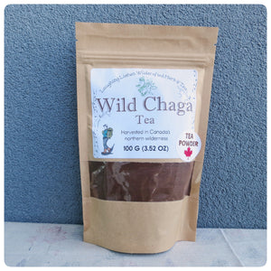 Wild Chaga Tea. Harvested in Northwestern Territories, Canada.  Laughing Lichen
