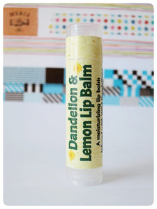 Laughing Lichen Dandelion & Lemon Lip Balm Handcrafted in Canada's northern wilderness Northwest Territories, Canada.  Laughing Lichen