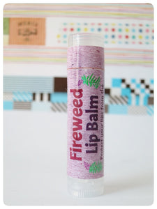 Laughing Lichen Fireweed Lip Balm Handcrafted in Canada's northern wilderness Northwest Territories, Canada.  Laughing Lichen