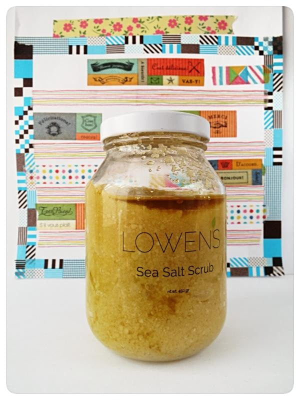 Vegan Sea Salt Scrub. EWG Approve. Made in Canada with Prairies Oils and East Coast Sea Salt.