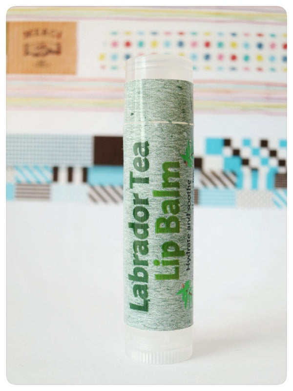 Laughing Lichen Labrador Tea Lip Balm  Handcrafted in Canada's northern wilderness Northwest Territories, Canada.  Laughing Lichen