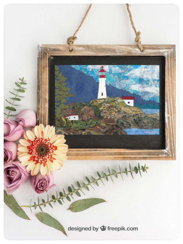 Lighthouse Greeting Card.  Designed and Printed in Vancouver, Canada