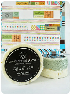 East Coast Glow, Coconut Milk & Lime Sea Salt Bomb, Made in Canada