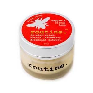Routine Maggie's Citrus Farm Deodorant. Beeswax formula Made in Canada.