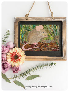 Wood Mouse Greeting Card. Designed and Printed in Vancouver, Canada