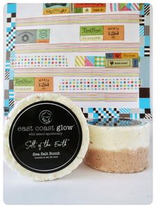 East Coast Glow, Wild Rose & Sweet Basil Sea Salt Bomb, Made in Canada