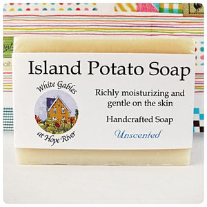 potato Island soap Made in PEI Canada. With PEI certified organic potato juice in cold process method.