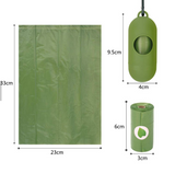 3 rolls of biodegradable waste bags with dispenser
