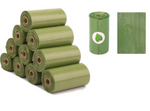 5 rolls of biodegradable waste bags with dispenser