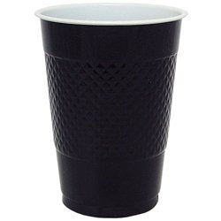 18 Oz Black Plastic Cups - 50 Pk