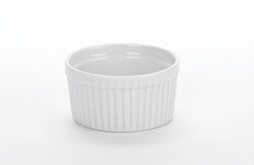 "BIA Cordon Bleu 90009S12 - Set of 12-3.25"" 6 Ounce Porcelain Ramekins, White"