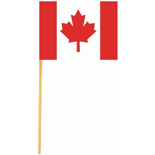 Canadian Flag Picks 50/Pkg-2.5""