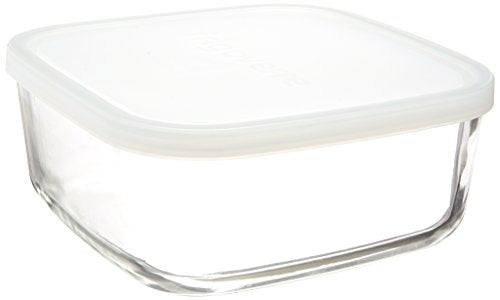 Bormioli Rocco Frigoverre Square Food Container with Frosted Lid, 54-1/4-Ounce
