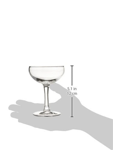 Luminarc N2642 Assorted Craft Brew Bar Coupe Martini Glass, 5.5 oz, Clear