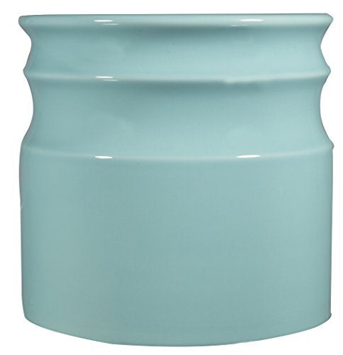 Home Essentials & Beyond 66376 7.5 D in. Turino Rings Utensil Crock - Aqua