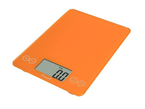 Escali 157OO Arti Glass Digital Kitchen Scale 15Lb/7Kg, Overly Orange