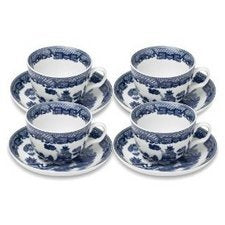 HIC Harold Import Co. YK-321 HIC Willow Cups and Saucers Set