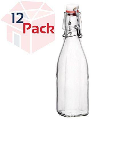 Bormioli Rocco Swing Bottle, 8.5 oz, Clear Pack of 12