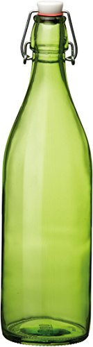 Bormioli Rocco Giara Green Glass Swing Top Bottle