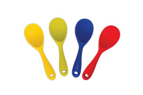 Danesco Blue Silicone 8.75 Inch Spoon and Rice Paddle