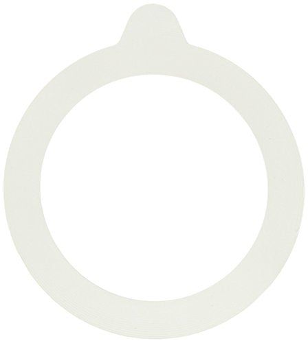"Bormioli Rocco 6 piece Fido Jar Replacement Gaskets, 3.5"", White Pack of 2"