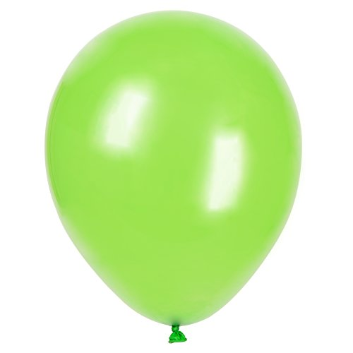 "12"" Latex Lime Green Balloons, 72ct"