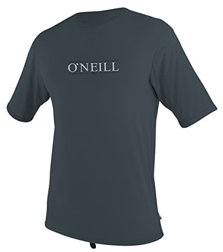 O'Neill Men's Premium Short Sleeve Rash Tee, Slate - MD, Slate Premium, Medium