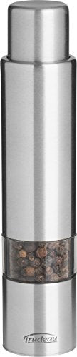 Trudeau Stainless Steel One-Hand Thumb 6 inch Pepper Mill