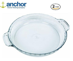 Anchor Hocking 77886 Fire King Deep Pie Baking Dish, 9.5-Inch (2)