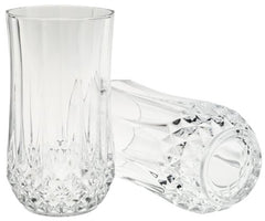 Arc International Set of 4 Cristal D'Arques Longchamp Tumbler, 12-Ounce