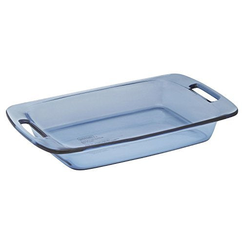 Pyrex 3 Quart 2.85L Easy Grab Oblong Atlantic Blue