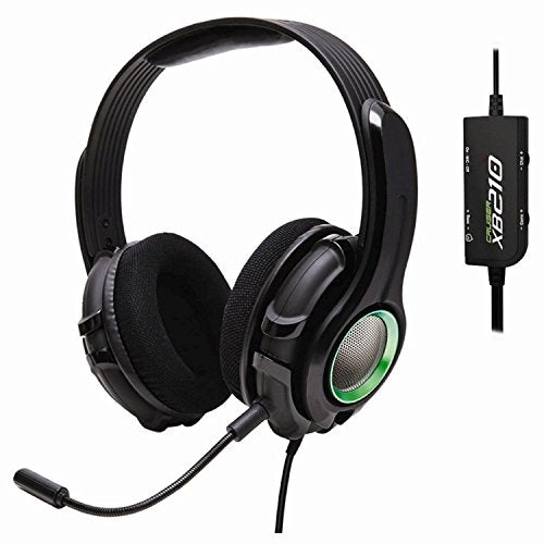 GamesterGear Cruiser XB210 Bass Quake Stereo Gaming Headset with Detachable Boom Mic for Xbox 360