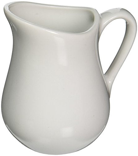 White Undecorated 4 oz Pitcher