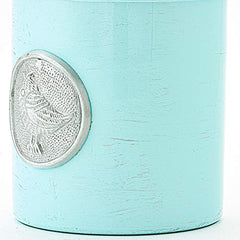 Old Dutch 4 Piece Lauren Bird Canister Set, Blue